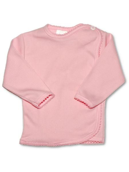 Kojenecká košilka proužkovaná New Baby růžová Mimimanie.cz