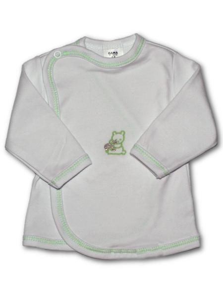 Kojenecká košilka s vyšívaným obrázkem New Baby zelená Mimimanie.cz
