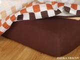Jersey prostěradlo - tmavě hnědá C
