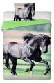 Bavlněné povlečení fototisk Černý kůň