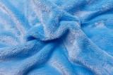 Prostěradlo z mikroflanelu modré