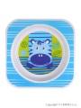 Dětský talířek Akuku modrý s hrošíkem