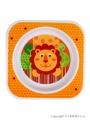 Dětský talířek Akuku oranžový s lvíčkem