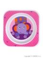 Dětský talířek Akuku růžový se slonem