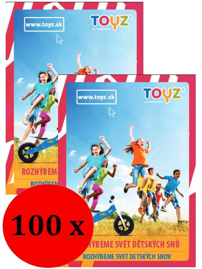 Propagační materiály Toyz balení-100 ks CARERO Mimimanie.cz