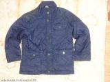 Modrá zimní prošívaná bunda se záplatami .. VEL 98 > 98